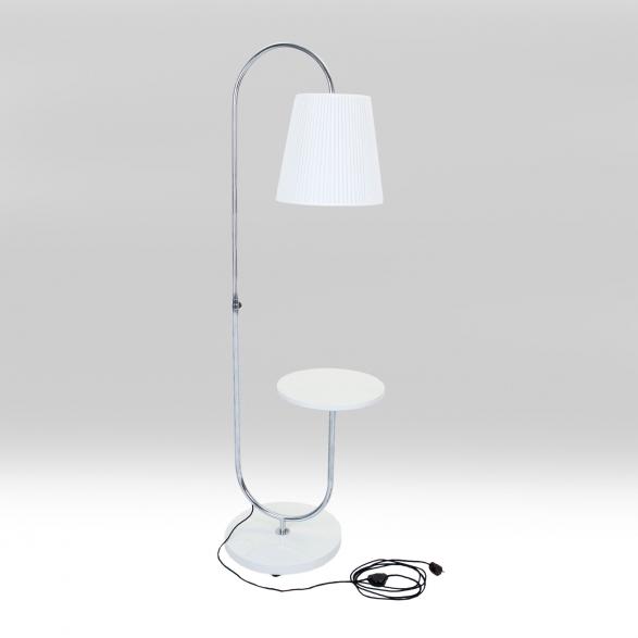 Lampa stojací-bílá lesk