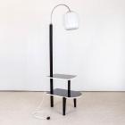 Lampa stojací-černá lesk