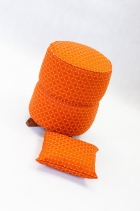 Taburet válec oranž