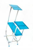 Květinový etažér-modrý opaxit